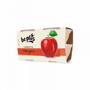 Compota manzana be plus p4x 100gr