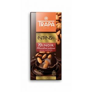 chocolate negro 70% almendra trapa 175g