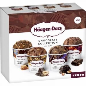 Helado minicups chocolate haagen dazs p4 x95ml