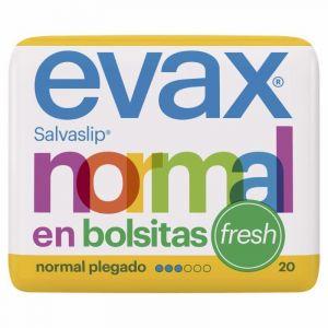 Salvaslip normal plegado fresh evax 20ud