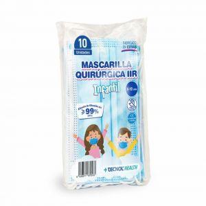 Mascarilla quirurgica infantil tecnol pack 1ud