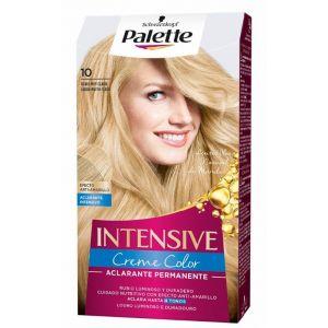 Coloración permanente textura crema de color rubio muy claro nº 10 palette intensive  115 ml
