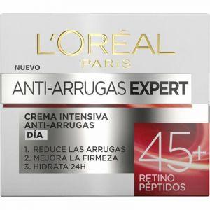Crema facial antiedad wrinkle expert péptidos loreal +45 50ml