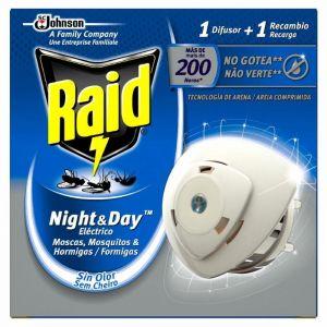 Insecticida electrico nightday device  raid 10 dias