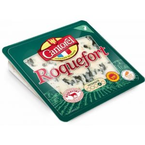 Queso roquefort d.o.p. cantorel porcion 100g