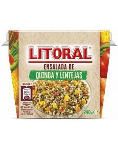 Ensalada de quinoa y lentejas litoral 240g