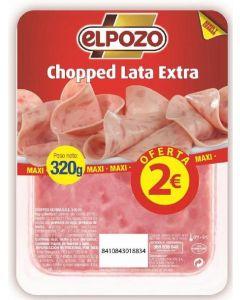 Choped pork lata el pozo lonchas 320 gr
