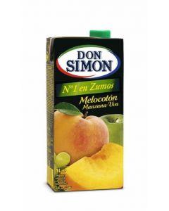 Zumo de melocoton-uva don simon brik 1l