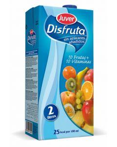 Nectar de sin azucar 10 frutas+10 vitaminas juver disfruta  2l