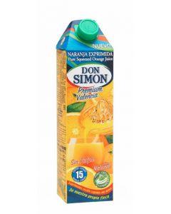 Zumo exprimido sin pulpa de naranja don simon  1l