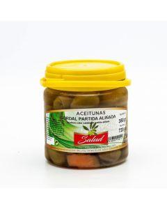 Aceituna gordal machacada aliñada la salud 700gr