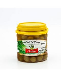 Aceituna manzanilla aliñada la salud bote 700gr