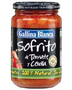 Sofrito de tomate cebolla con trozos gallina blanca 350g