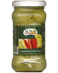 Corazones de alcachofa 8/12 alsur tarro 160g