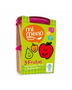Tarrito 3 frutas dulcesol pack de 2 unidades de 400g