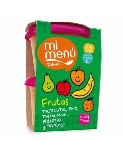 Tarrito de frutas y plátano dulcesol pack de 2 unidades de 400g
