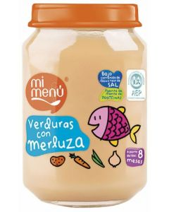 Tarrito de verduras y merluza dulcesol 235g