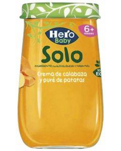 Tarrito bio crema calabaza y patatas  solo hero 190gr