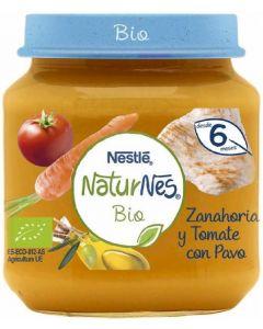 Tarrito bio de zanahoria, tomate y pavo naturnes 200g