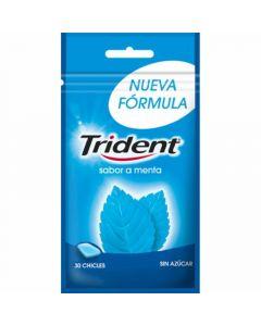 Chicles sin azúcar menta trident 30 grageas