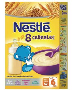 Papilla  8 cereales c/bifidus nestle  600g