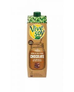 Bebida con chocolate soja vivesoy brick 1l