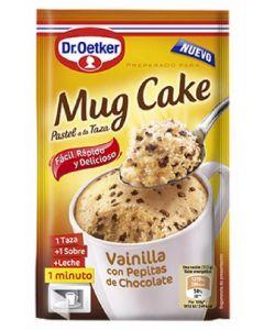 Mug cake preparado para pastel a la taza de vainilla con pepitas de chocolate dr.oetker 65g