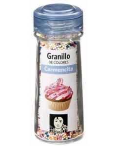 Granillo de colores carmencita en tarro de cristal 86 g