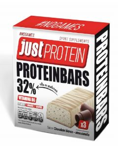 Barrita proteica chocolate blanco loading 3x35g