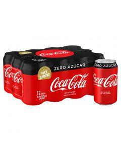Refresco de cola sin azúcar y sin cafeína coca-cola zero zero pack de 12 unidades de 33cl