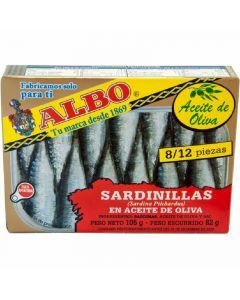 Sardinilla aceite de oliva albo 1/4 dingley 82g ne