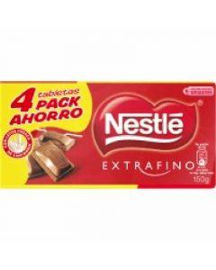 Chocolate con leche  nestle  p4x125g