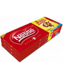chocolate con almendras nestlé tpack de 3 unidades de123g