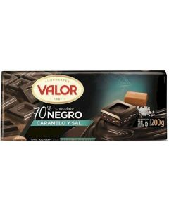 Chocolate negro 70% caramelo y sal valor  200g