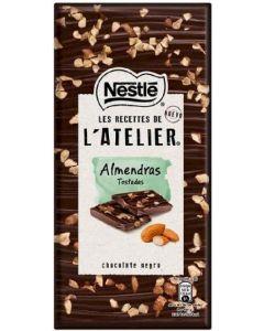 Chocolate negro almendras latelier  115g