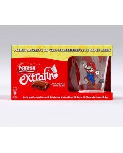 Lote chocolate extrafino regalo vaso  nestle  p3x125+3x20g