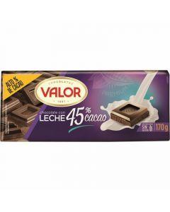 Chocolate con leche 45% cacao valor  170g