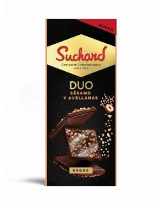 chocolate negro sesamo avellana suchard 101g