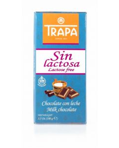 Chocolate con leche sin lactosa trapa 100gr
