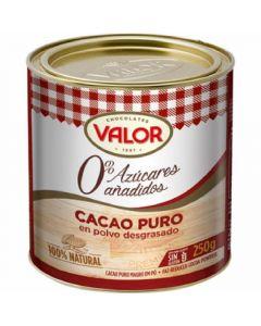 Cacao en polvo puro s/azucar valor 250gr