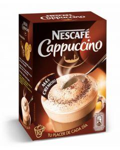 Cafe soluble capuccino natural nescafe 10 sobres