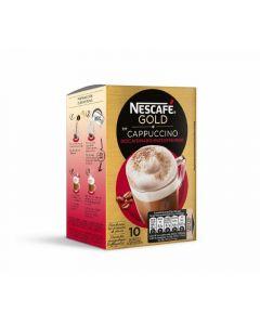 Café soluble descafeinado capuccino nescafé 10 sobres