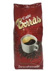 Cafe descafeinado grano natural borras 500gr