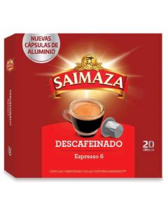 Cafe en capsulas descafeinado saimaza 20 capsulas