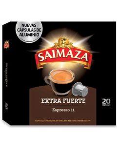 Cafe en capsulas extra fuerte saimaza 20 capsulas