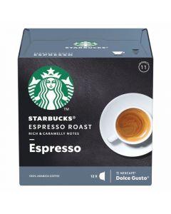 Cafe en  capsulas dolce gusto  espresso roast starbucks 66gr 12 cap