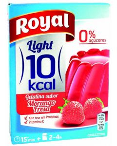 Gelatina de fresa light royal 31g