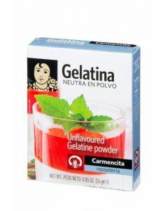 Gelatina neutra polvo carmencita 24g