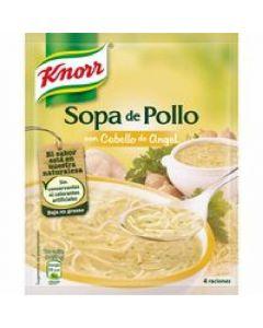Sopa con fideos de pollo knorr 1l