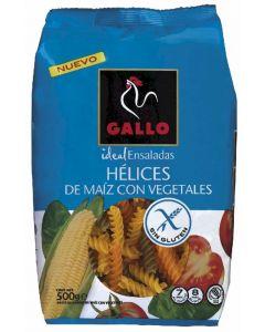 Pasta helices tricolor sin gluten gallo 500g